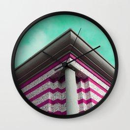 Purple futuristic cornice Wall Clock