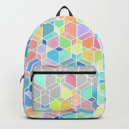 Rainbow Cubes & Diamonds Backpack
