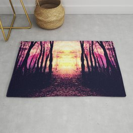 Path to Imagination : Mauve Pink Purple Rug