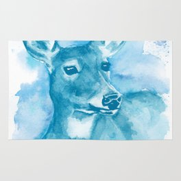 Deer Blue Rug