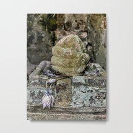 Shiva Lingam and Lotus, Angkor Thom Metal Print