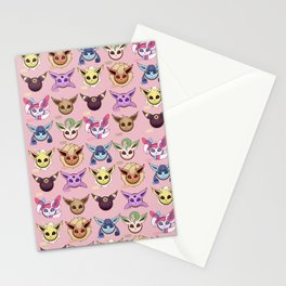 Eeveelutions Pink Stationery Cards