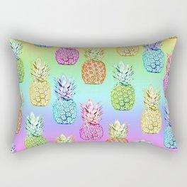 Pineapple Rainbow Rectangular Pillow