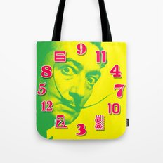 Salvador Dali Dial Clock Face Pop Art Tote Bag