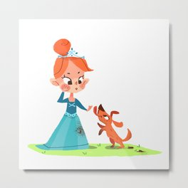 Princess and the mucky Pooch Metal Print