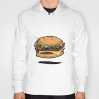 burger Hoodies featuring BURGER by Anthony Morell