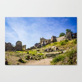 Stone Steps Leading up to the Temple Area of Golconda Fort in Hyderabad, India Canvas Print