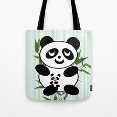 Panda mom and Baby Tote Bag