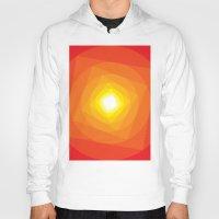 gradient Hoodies featuring Gradient Sun by Fimbis