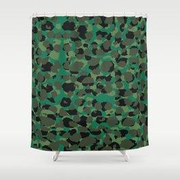 Emerald Leopard Spots Shower Curtain