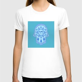 Hamsa for blessings, protection and strength - Turquoise T-shirt