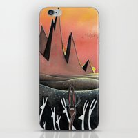 hare iPhone & iPod Skins featuring Hare by Kristin Rian