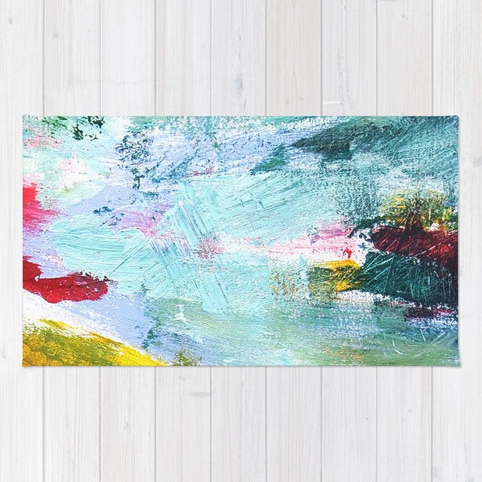 Flying Up - Abstract Painting Rug