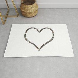 Liquid Metal Heart Shaped Frame Rug