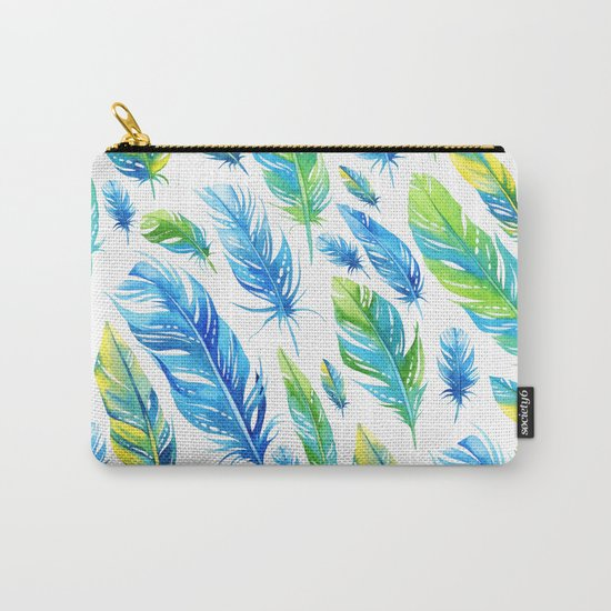 Feathers Pattern 03 Carry-All Pouch