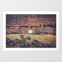 Utah Conestoga wagon State Line Welcome Center Mountain Art Print