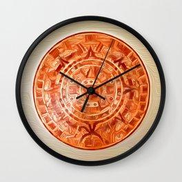 Montezuma's Calendar Wall Clock