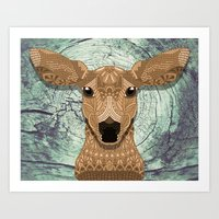bambi Art Prints featuring Bambi by ArtLovePassion