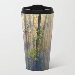 Wandering in a Foggy Woodland Travel Mug