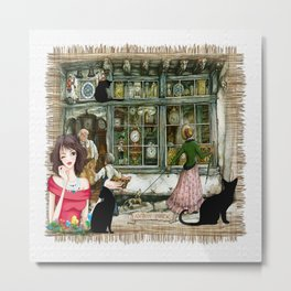 Chemist shop in Old Amsterdam Metal Print