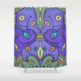 Abstracted Peacock Shower Curtain