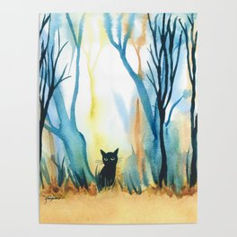 Calabria Whimsical Cat Poster