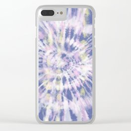 Indigo Tie-Dye Clear iPhone Case