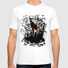 Death and the Maiden White SMALL Mens Fitted Tee