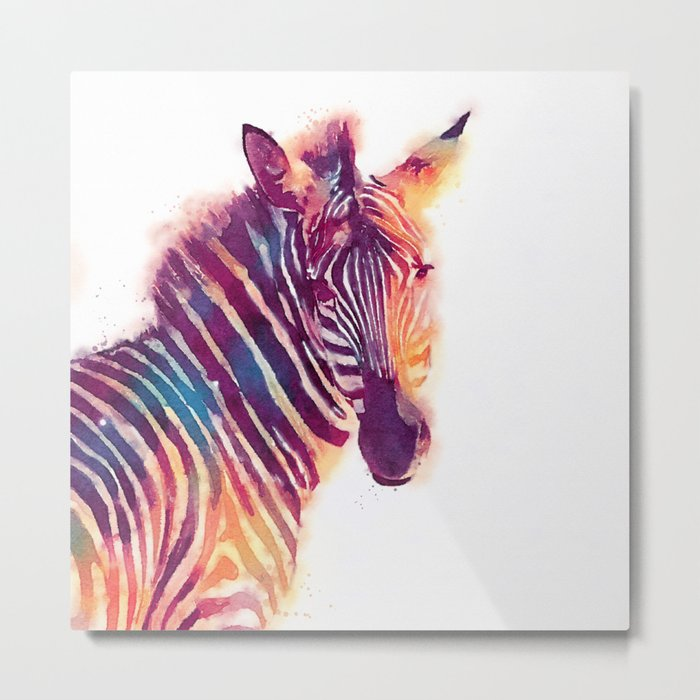 The Aesthetic - Zebra Metal Print