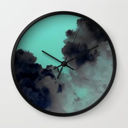 Stormy Skies - Green skies Wall Clock