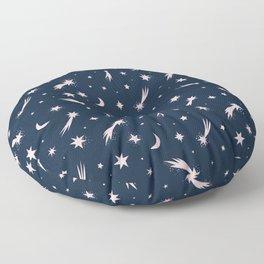 Mini Meteors Navy  Floor Pillow