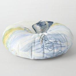 Great Blue Heron Floor Pillow