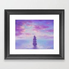 Weit Übers Meer Framed Art Print