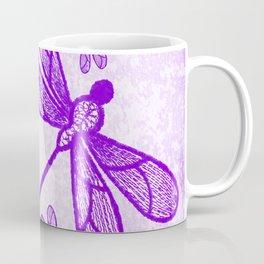 Beautiful abstract dragonflies in purple Coffee Mug