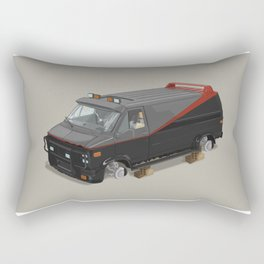 80´s tv and films cars (A team) Rectangular Pillow