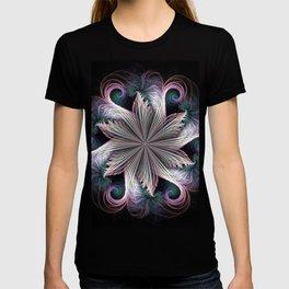Pink Cloud Pinwheel fractal T-shirt