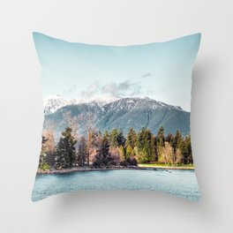 They were shy, and they melted in love with sunlight kisses Throw Pillow