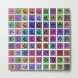 Tessellating Flora Metal Print