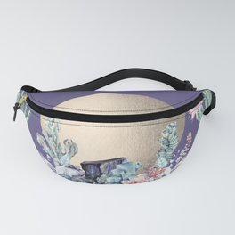 Desert Sun + Gemstones Gold Deep Purple Fanny Pack