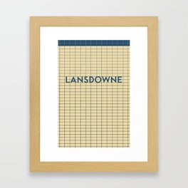 LANSDOWNE | Subway Station Framed Art Print