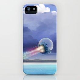 Cruising over the beach iPhone Case