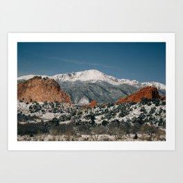 Snowy Mountain Tops Art Print