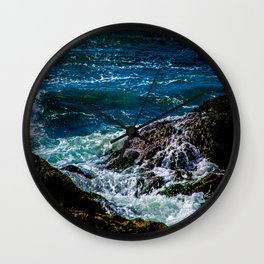 Hands - Water over rocks in Victoria, BC Wall Clock