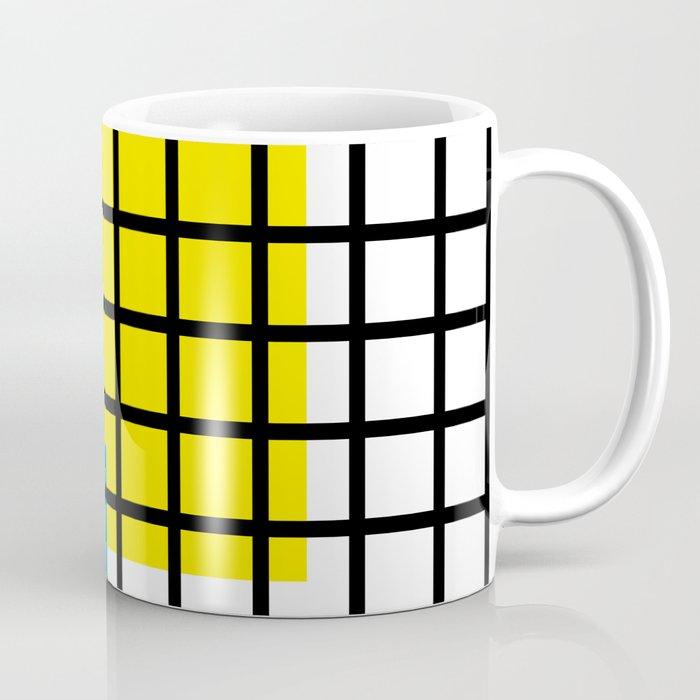 Modern geometric background, red, yellow, green,orange and blue  #society6 #decor #buyart #artprint Coffee Mug