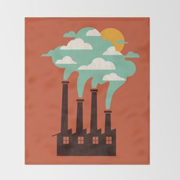 The Cloud Factory Throw Blanket