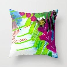 Wave pink Throw Pillow