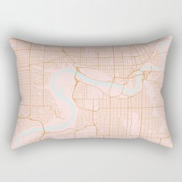 Edmonton map, Canada Rectangular Pillow
