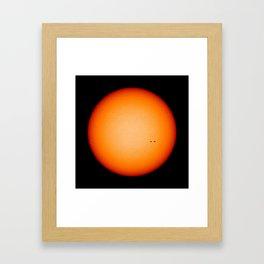 """""""Sun Spots"""" Solar Max 2013 Framed Art Print"""