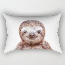 Sloth Baby Animals Art Print by Zouzounio Art Rectangular Pillow