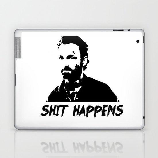 The Walking Dead Rick Grimes: SH*T HAPPENS Laptop & iPad Skin